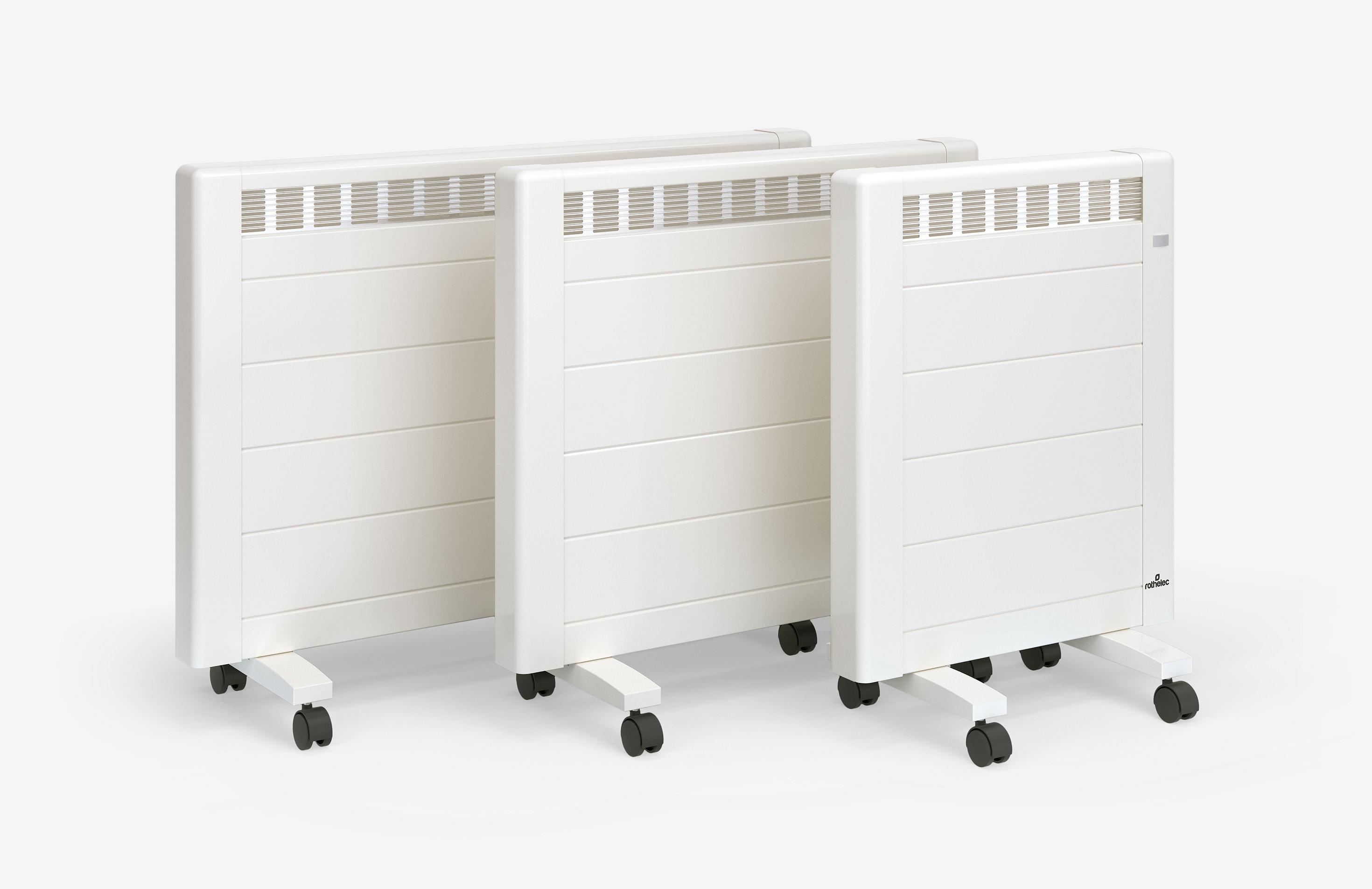 Radiateur Inertie Sur Roulettes avec chauffage d'appoint et radiateur électrique mobile | rothelec